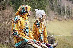 Mikiny - Navajo tribal winter - termo mikina - 8833855_