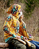 Mikiny - Navajo tribal winter - termo mikina (S dámska) - 8833920_