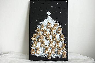 Dekorácie - Adventný kalendár stromček masív/ tabuľová farba - 8830759_