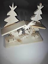 Dekorácie - Drevený Betlehem malý - 8830304_