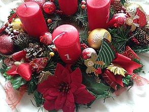 Dekorácie - zlava-Klasicky velký Adventny veniec 45cm anjeliky - 8830362_
