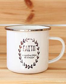 Nádoby - Smaltovaný hrnček FAITH - 8831220_