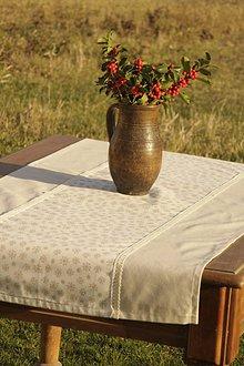 Úžitkový textil - Vianočný obrus-štóla béžový - 8839736_