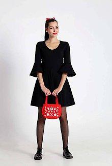 Šaty - Šaty s volánmi na rukávoch - 8835351_