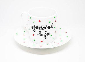 Nádoby - Vjanočná kafa (kávička k stromčeku) :) espresso šálka - 8837884_