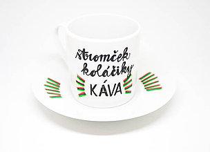 Nádoby - Stromček, koláčiky a KÁVA espresso šálka - 8837951_
