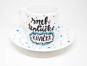 Nádoby - Sneh, tepľúčko, kávička. Šálka na espresso - 8839413_