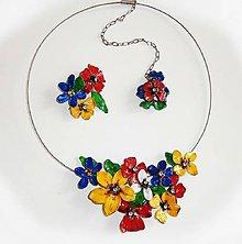 Náhrdelníky - folk kvetinky romantické - 8836619_