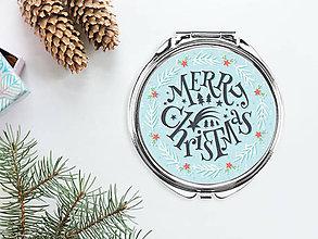 Zrkadielka - Zrkadielko Merry Christmas - 8836255_