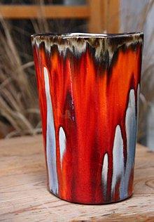 Dekorácie - váza ohnivá - 8826549_