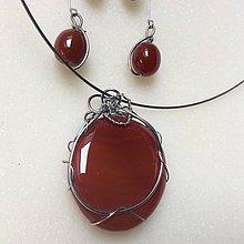 Sady šperkov - sada šperkov- karneol v oceli - 8835126_