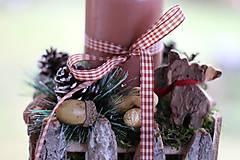 Dekorácie - Vianočný svietnik na balkón - 8835962_
