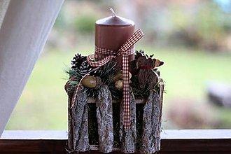 Dekorácie - Vianočný svietnik na balkón - 8835960_