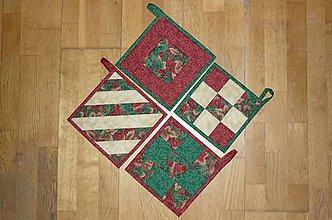 Úžitkový textil - Chňapka vianočná (4) - 8840183_