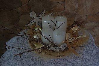 Dekorácie - vianočný aranžmán - 8836635_