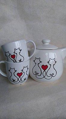 Nádoby - Čajová mačičková sada - 8839968_