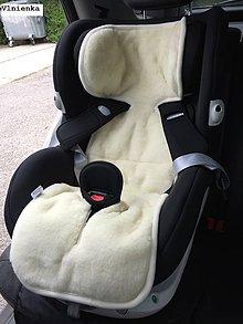 Textil - Podložka do autosedačky 9-18 kg 100% Merino proti poteniu a prechladnutiu Hviezdička sivá - 8836617_