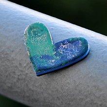 Magnetky - Magnetka Srdce modravé - 8836360_