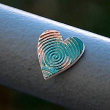 Magnetky - Magnetka Srdce medený vír - 8836517_