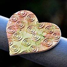 Magnetky - Magnetka Srdce medenozlaté - 8836567_