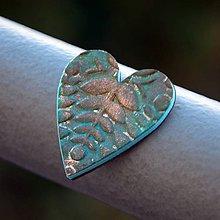 Magnetky - Magnetka Srdce tyrkysový list - 8836582_
