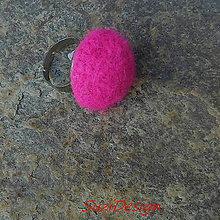 Prstene - retro prstienok 35mm / cyklámenová - 8836615_
