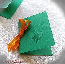 Papier - pozvánky a menovky / 5ks - 8836974_