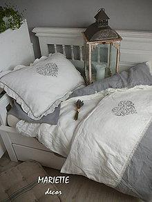 Úžitkový textil - NOVÉ ...lněné povlečení VALENTINE - 8837041_