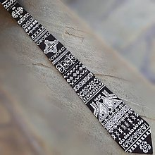 Doplnky - V čičmianskej dreveničke- hodvábna maľovaná kravata - 8835153_