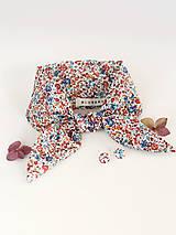 Šatky - Dámsky elegantný set - šatka a náušnice z exkluzívnej látky Liberty London - 8837030_
