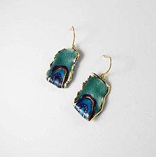 Náušnice - Tana šperky - keramika/zlato - 8838642_