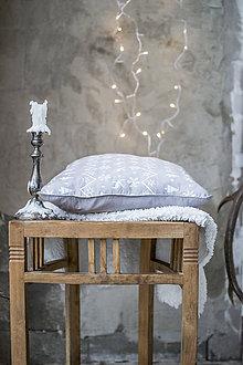Úžitkový textil - Vianočný vankúš - ručná potlač - 8838465_