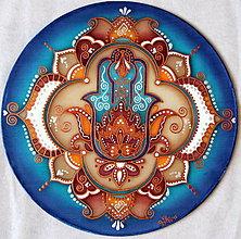 Dekorácie - Hamsa - Ochranná mandala - 8835963_