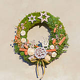Dekorácie - Prírodný vianočný venček na dvere - 8834719_