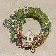 Dekorácie - Prírodný vianočný venček na dvere - 8834706_
