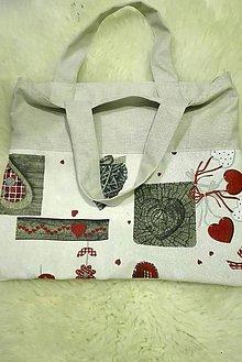 Nákupné tašky - Srdiečková taška - 8838350_