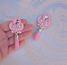 Náušnice - Soutache earrings Lora - design no.17 - 8839446_