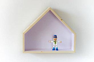 Nábytok - Drevený domček ružový (Ružová) - 8837687_