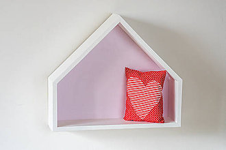 Nábytok - Drevený domček ružový (Biela) - 8837689_