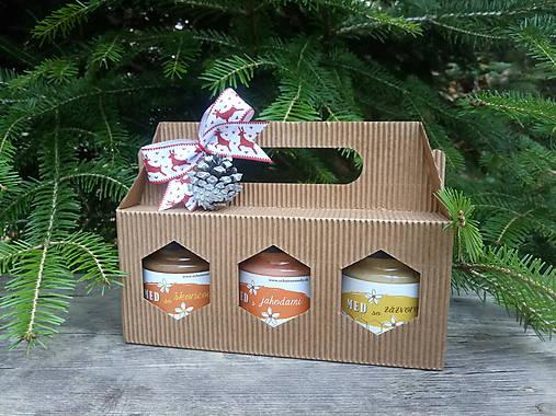 Darčekové balenie na 3 ochutené medy
