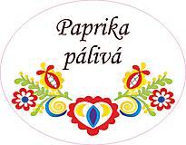 Papiernictvo - Etikety na koreničkové dózy FOLK biele - 8835539_