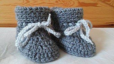 Topánočky - čižmičky na zimu 0-6 mesiacov - 8837789_