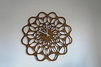 Hodiny - Nástenné drevené hodiny Softly tik - 8838683_