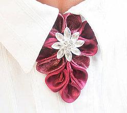 Náhrdelníky - Elegancia a la Chanel - vínová de Luxe - 8839364_