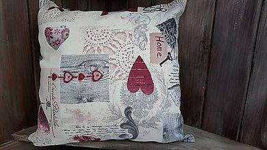 Úžitkový textil - Vankúš - kľúčik - 8839377_