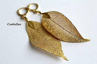 Náušnice - Pure Leaves Gold (Náušnice) - 8840128_