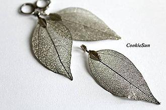 Náušnice - Pure Leaves Silver (Sada) - 8840138_