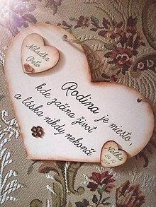 Tabuľky - Rodinné srdce menšie - 8839819_