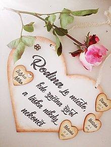 Tabuľky - Rodinné srdce veľké - 8839843_