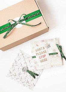 Papiernictvo - Darčekový set v zelenom - 8836668_